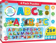 ABC's 4 Pack Educational Puzzle