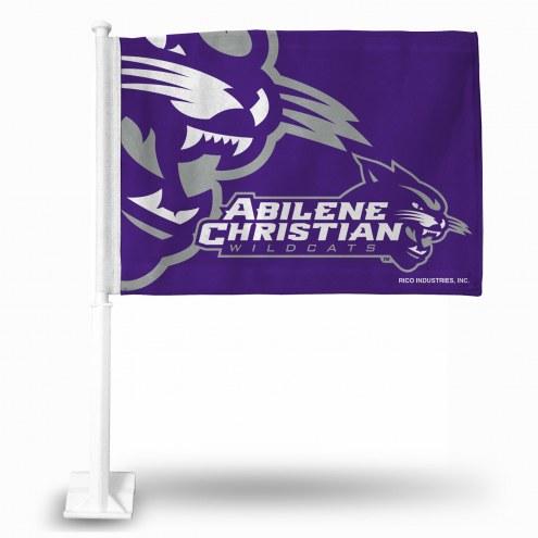 Abilene Christian Wildcats College Car Flag