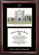 Abilene Christian Wildcats Gold Embossed Diploma Frame with Campus Images Lithograph