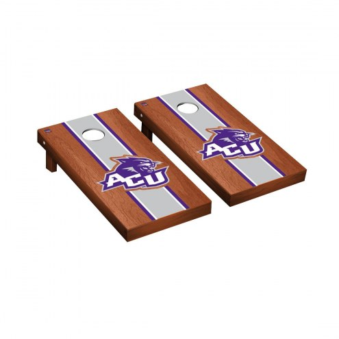 Abilene Christian Wildcats Rosewood Stained Cornhole Game Set