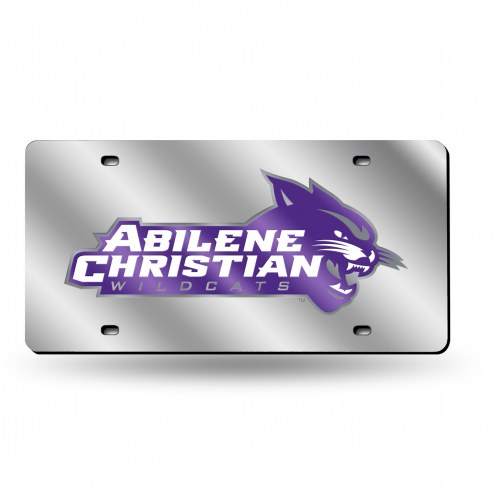 Abilene Christian Wildcats Silver Laser Cut License Plate