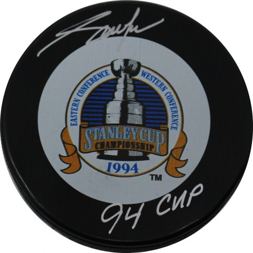 """Adam Graves Signed 1994 Stanley Cup Puck w/ """"94 Cup"""" Insc"""