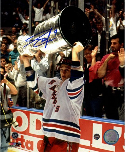 Adam Graves with Cup Overhead 8x10 Photo