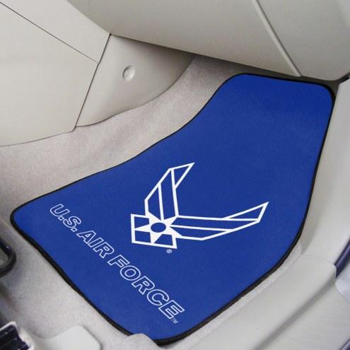 Air Force Falcons 2-Piece Carpet Car Mats