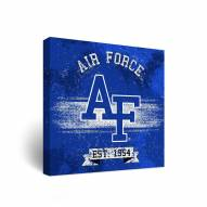 Air Force Falcons Banner Vintage Canvas Wall Art