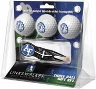 Air Force Falcons Black Crosshair Divot Tool & 3 Golf Ball Gift Pack