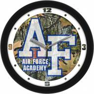 Air Force Falcons Camo Wall Clock