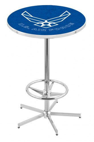 Air Force Falcons Chrome Bar Table with Foot Ring