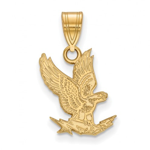 Air Force Falcons College Sterling Silver Gold Plated Medium Pendant