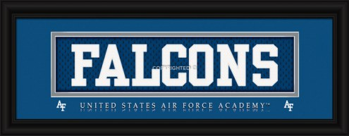 """Air Force Falcons """"Falcons"""" Stitched Jersey Framed Print"""