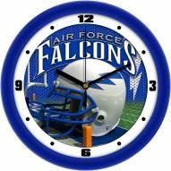 Air Force Falcons Football Helmet Wall Clock