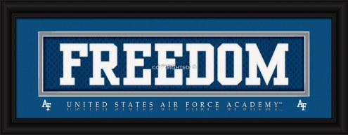"""Air Force Falcons """"Freedom"""" Stitched Jersey Framed Print"""