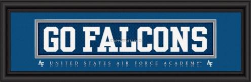 """Air Force Falcons """"Go Falcons"""" Stitched Jersey Framed Print"""