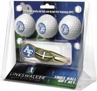 Air Force Falcons Gold Crosshair Divot Tool & 3 Golf Ball Gift Pack