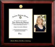 Air Force Falcons Gold Embossed Diploma Frame with Portrait
