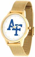 Air Force Falcons Gold Mesh Statement Watch