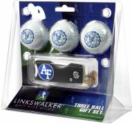 Air Force Falcons Golf Ball Gift Pack with Spring Action Divot Tool
