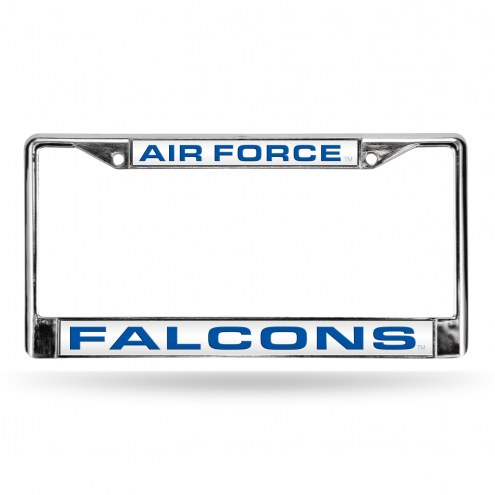 Air Force Falcons Laser Chrome License Plate Frame