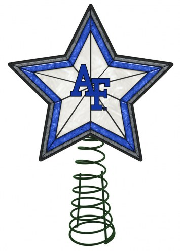 Air Force Falcons Light Up Art Glass Tree Topper
