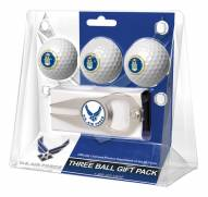 Air Force Falcons Linkswalker Golf Ball Gift Pack with Hat Trick Divot Tool