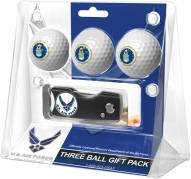 Air Force Falcons Linkswalker Golf Ball Gift Pack with Spring Action Divot Tool