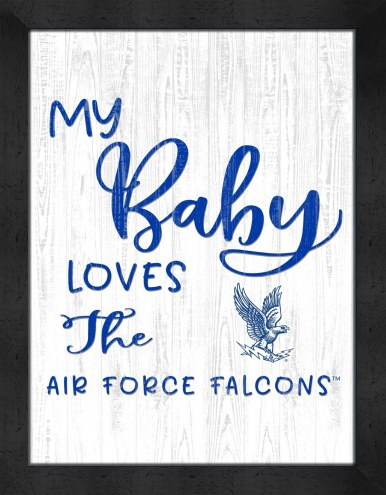 Air Force Falcons My Baby Loves Framed Print