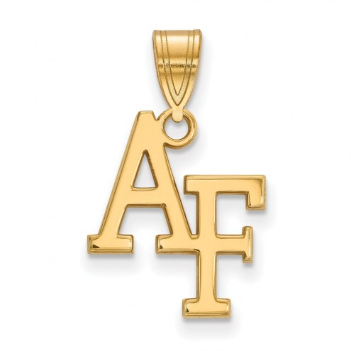Air Force Falcons NCAA Sterling Silver Gold Plated Medium Pendant