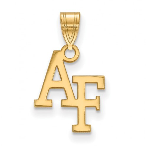 Air Force Falcons NCAA Sterling Silver Gold Plated Small Pendant
