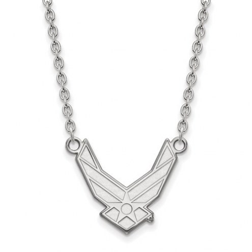 Air Force Falcons NCAA Sterling Silver Large Pendant with Necklace