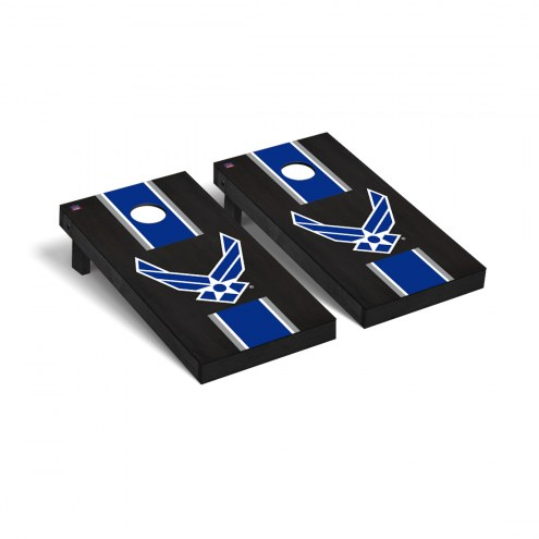 Air Force Falcons Onyx Stained Stripe Cornhole Game Set