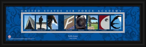 Air Force Falcons Personalized Campus Letter Art