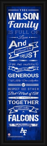 Air Force Falcons Personalized Family Cheer Framed Art