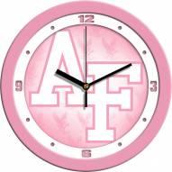 Air Force Falcons Pink Wall Clock