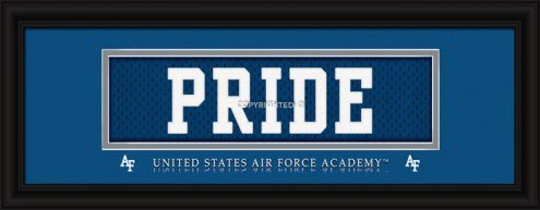 """Air Force Falcons """"Pride"""" Stitched Jersey Framed Print"""