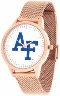 Air Force Falcons Rose Mesh Statement Watch