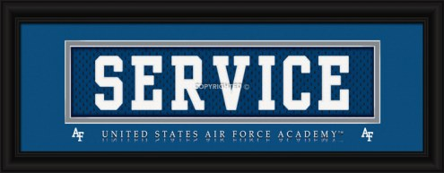 """Air Force Falcons """"Service"""" Stitched Jersey Framed Print"""