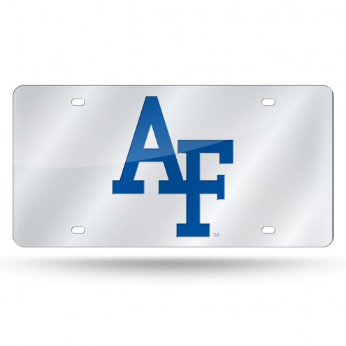 Air Force Falcons Silver Laser License Plate