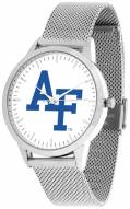 Air Force Falcons Silver Mesh Statement Watch