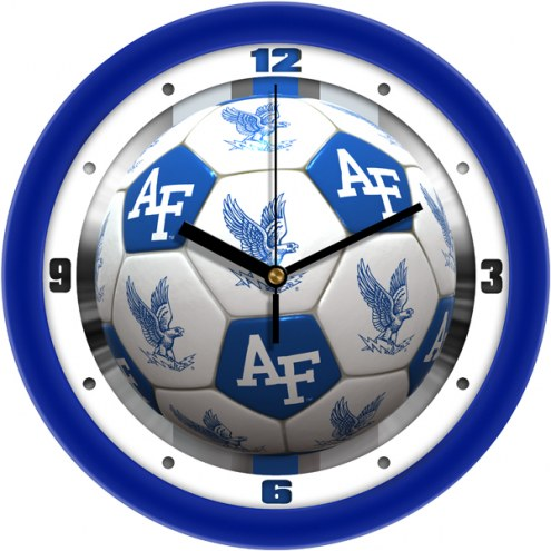 Air Force Falcons Soccer Wall Clock