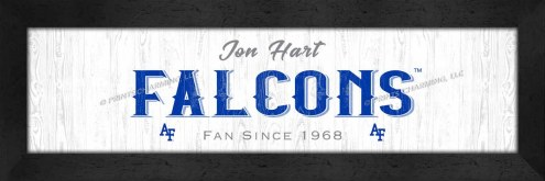 Air Force Falcons Stacked Team Personalized Framed Print