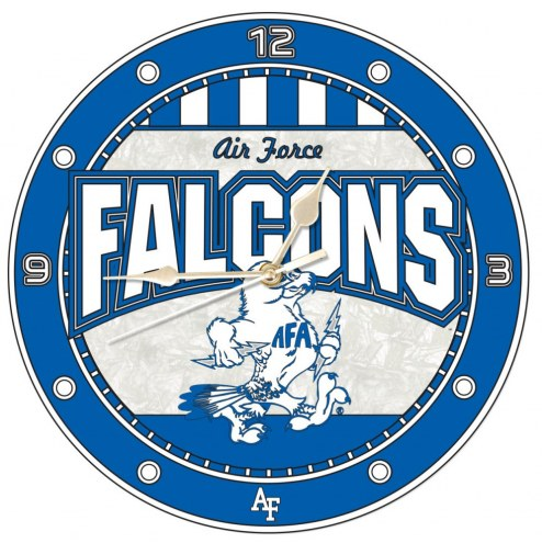 Air Force Falcons Stained Glass Wall Clock