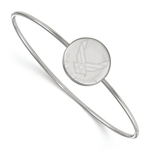 Air Force Falcons Sterling Silver Bangle Slip on Bracelet