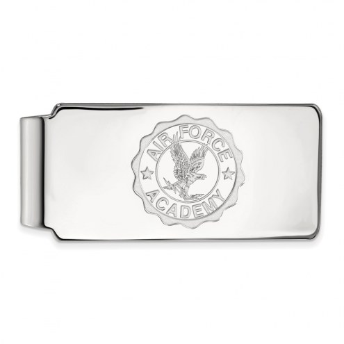 Air Force Falcons Sterling Silver Crest Money Clip