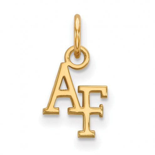 Air Force Falcons Sterling Silver Gold Plated Extra Small Pendant