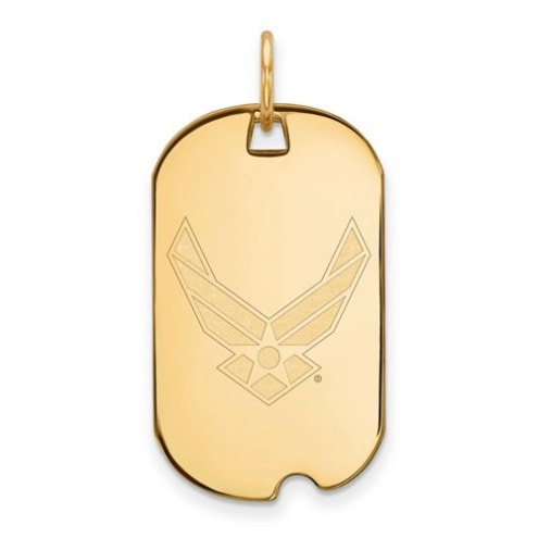 Air Force Falcons Sterling Silver Gold Plated Small Dog Tag
