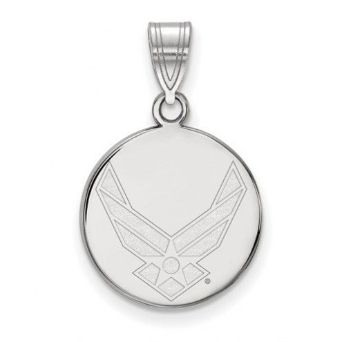 Air Force Falcons Sterling Silver Medium Disc Pendant