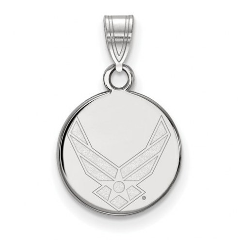 Air Force Falcons Sterling Silver Small Disc Pendant