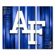 Air Force Falcons Triptych Rush Canvas Wall Art