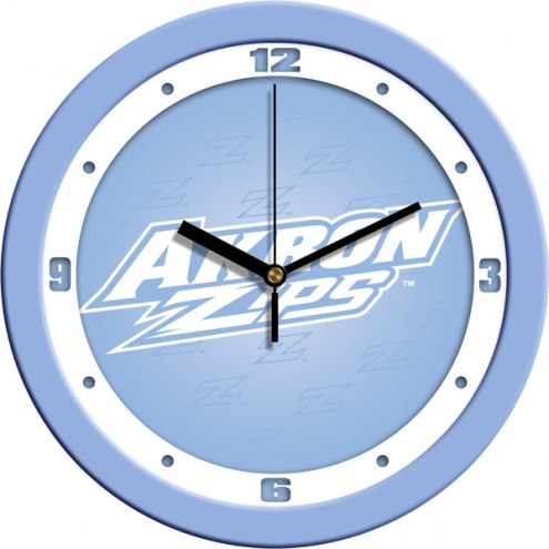 Akron Zips Baby Blue Wall Clock