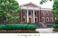 Akron Zips Campus Images Lithograph